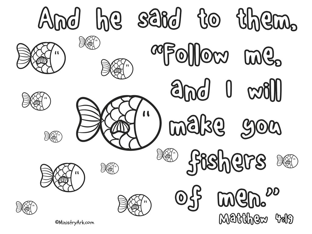 'Fishers of Men' Printable (Matthew 4:19) • MinistryArk
