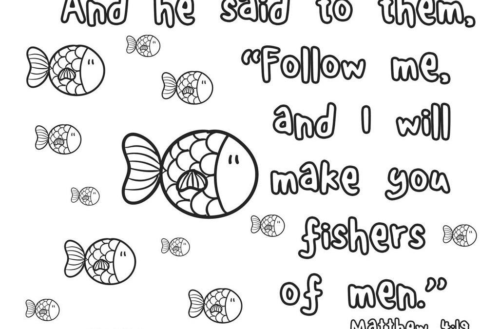 'Fishers of Men' Printable (Matthew 4:19)