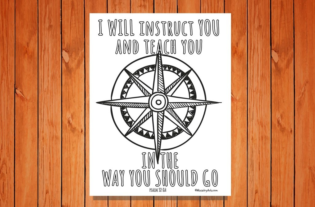 'I Will Instruct You' Printable (Psalm 32:8a)