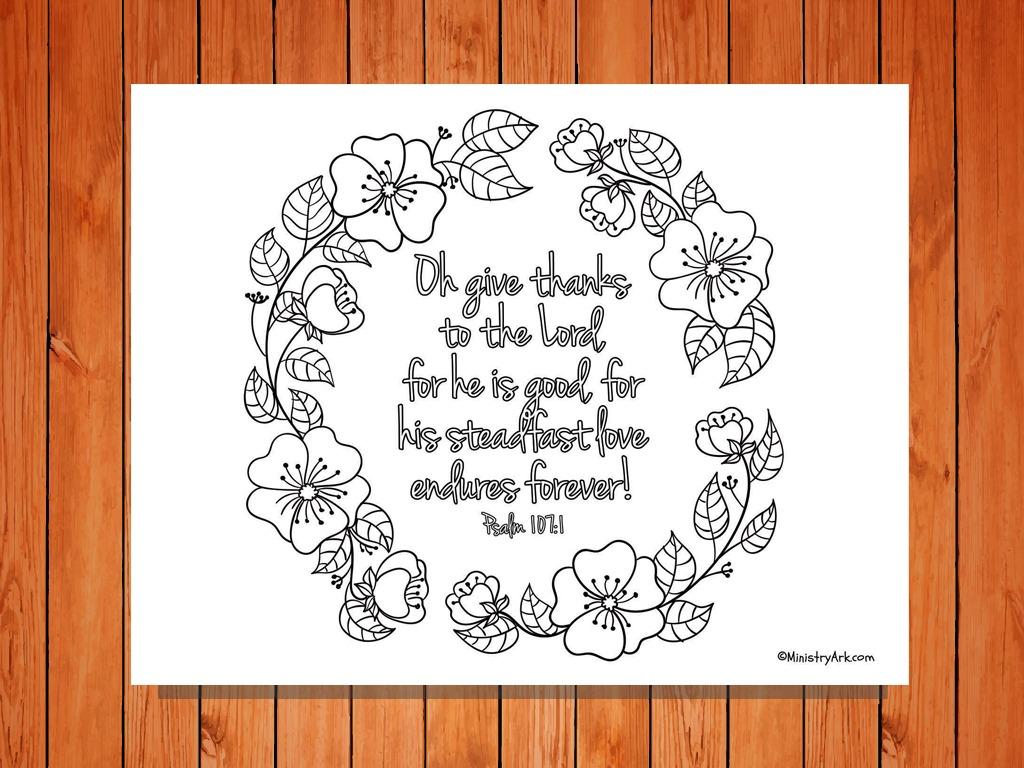 Psalm 107:1 Printable