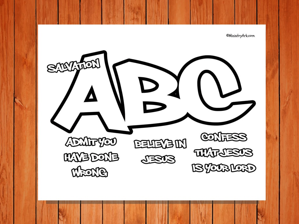 Salvation Abc Printable Coloring Page Ministryark