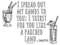 Psalm 143:6 Printable
