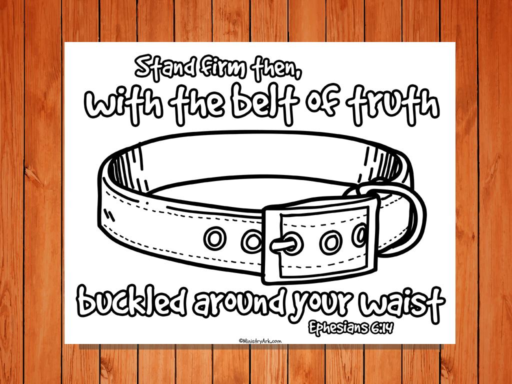 Belt Of Truth Printable Ministryark