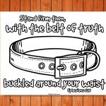 'Belt of Truth' Printable