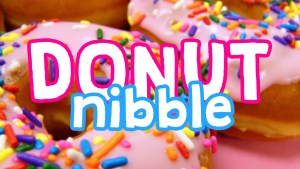 Click here for the widescreen 'Donut Nibble' Game Powerpoint image
