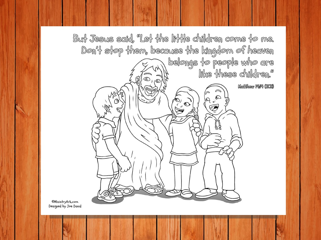 Let The Children Come Printable Matthew 19 14
