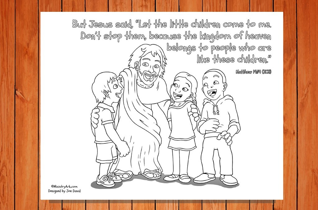 'Let the Children Come' Printable (Matthew 19:14)