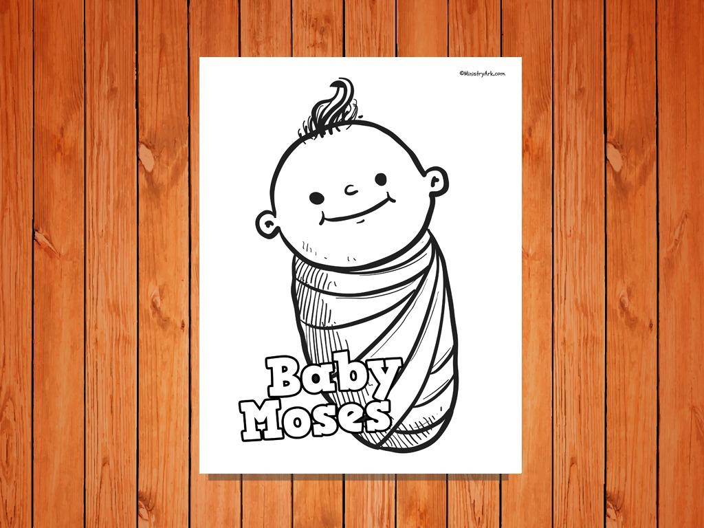 Baby Moses Printable Ministryark