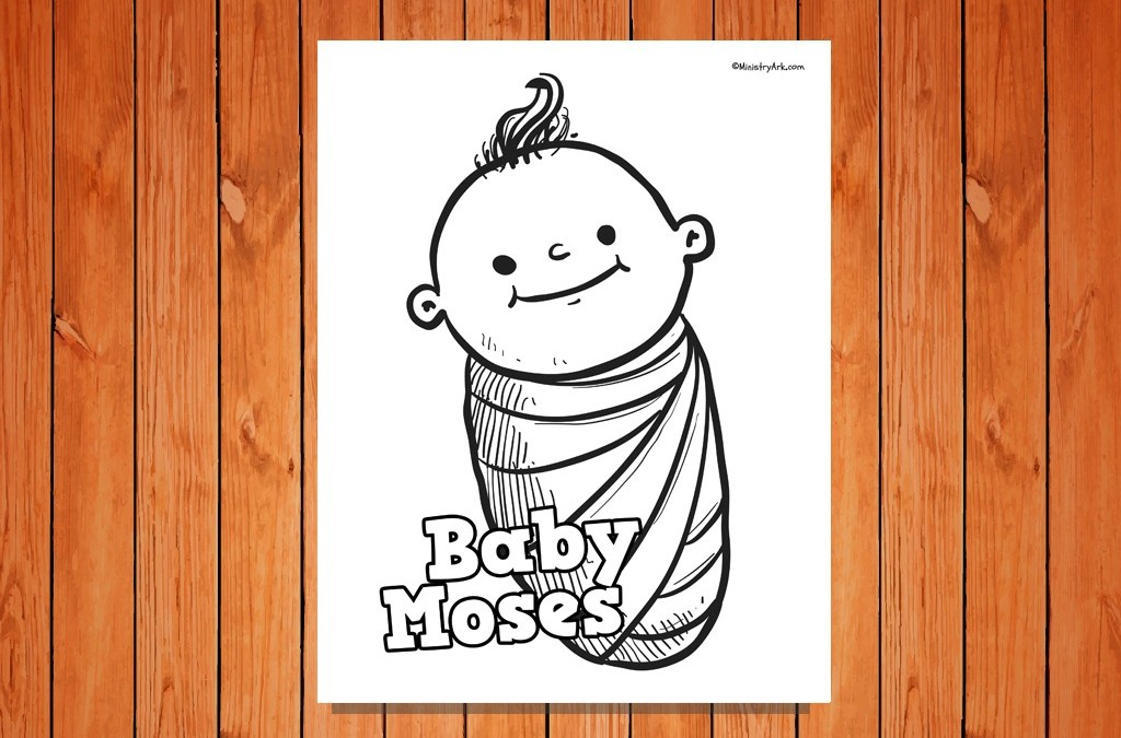 This is an image of Modest Baby Moses Printable