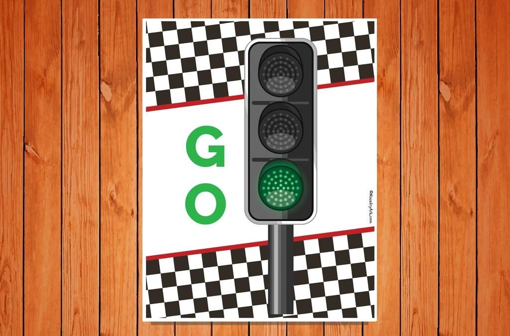 'Go' Traffic Light Printable