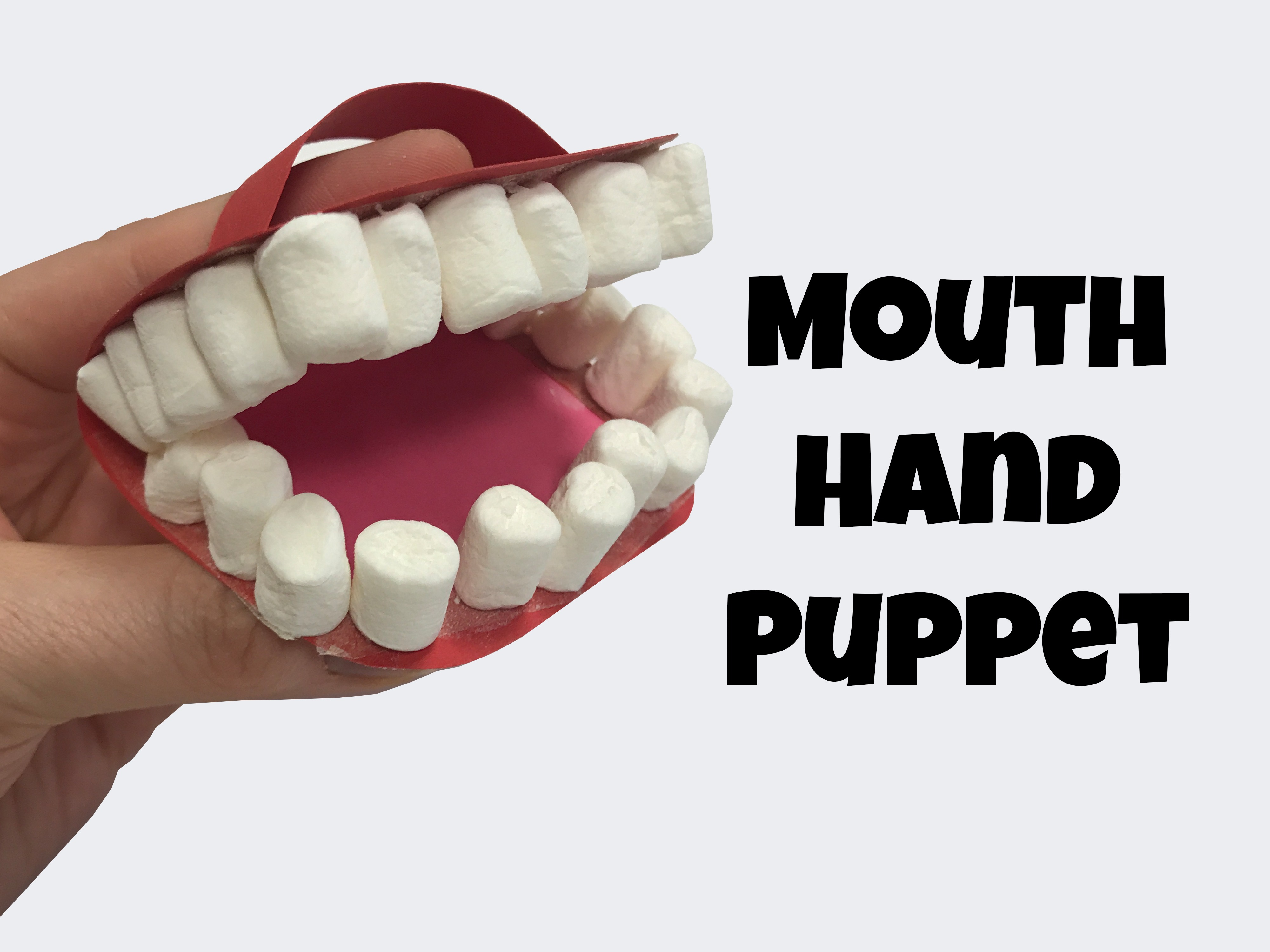 Mouth Hand Puppet Craft For Teaching About Words James