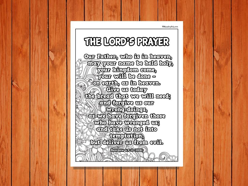 The Lord S Prayer Poster Printable Ministryark