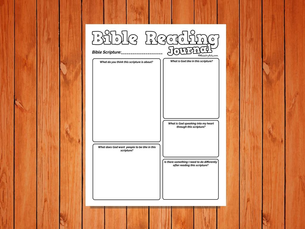 Bible Reading Journal Printable For Kids Ministryark