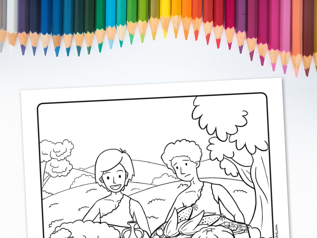 Cain And Abel S Offering Printable Coloring Sheet