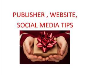 publisher websites social media tips