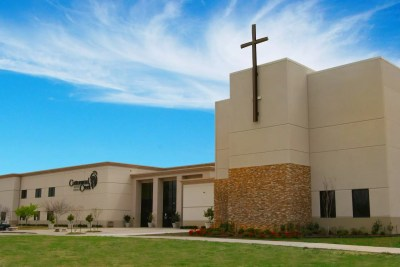Cottonwood Creek Baptist Church Cross Outside Front of Building