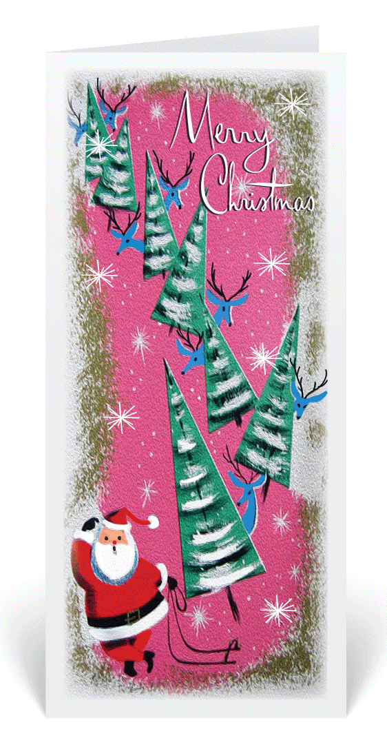 Christian Vintage 1950s Lamb Christmas Card 5012  Ministry Greetings Christian Cards