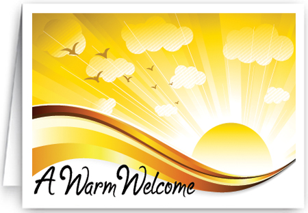 Welcome To Our Church Cards Ministry Greetings