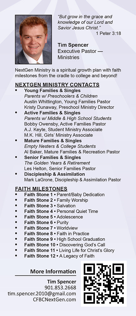 Ministry Card Samples