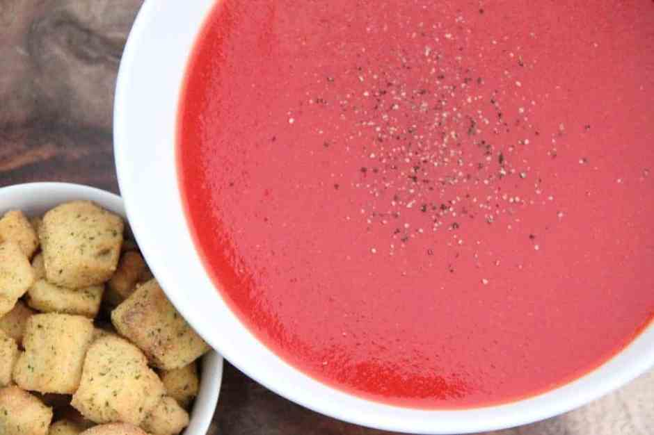 Tomato, beetroot and carrot soup