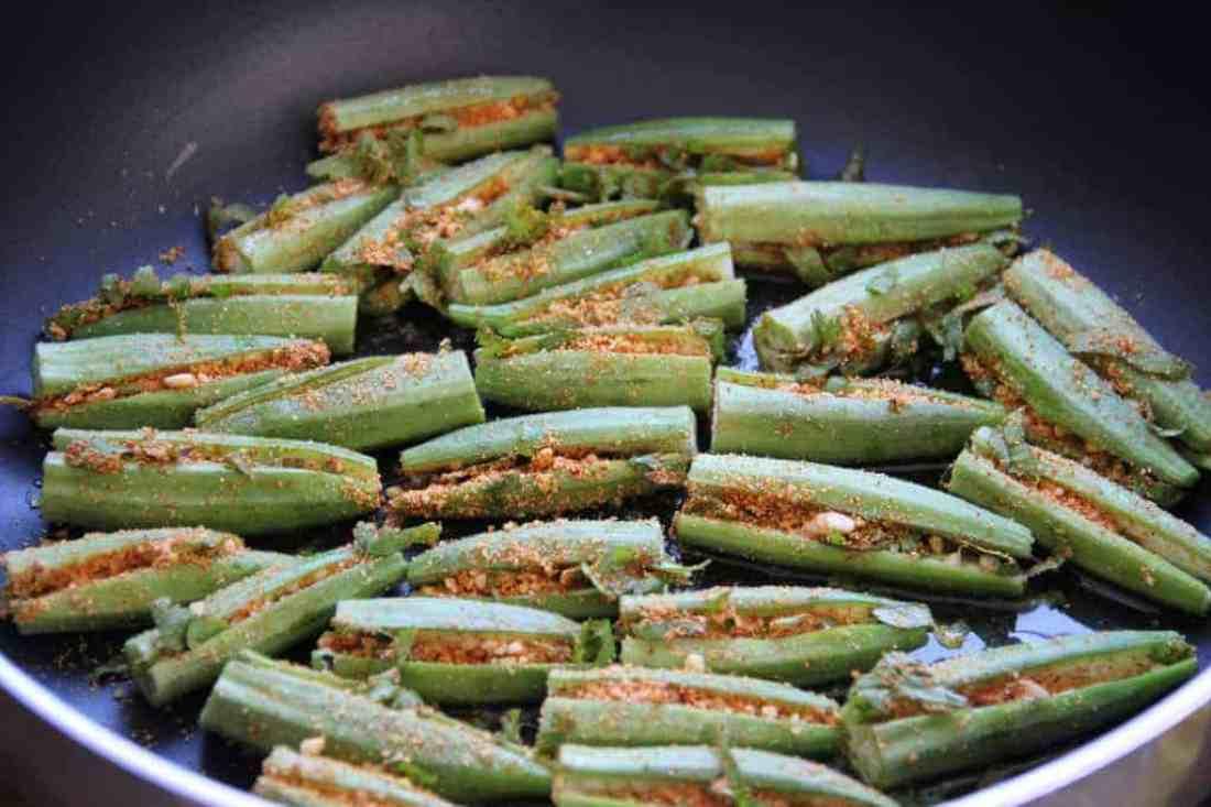 stuffed okra - pan fried