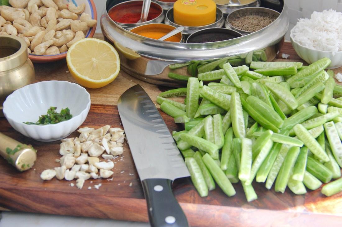 Stir fried Tindora {Ivy Gourd}