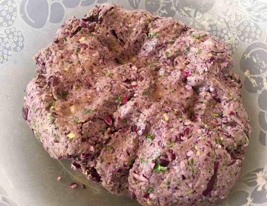 Purple Cabbage Parathas {flatbreads}