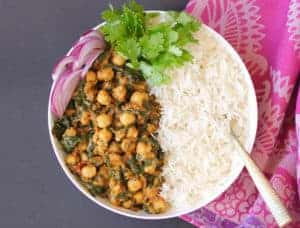 chana saag instant pot