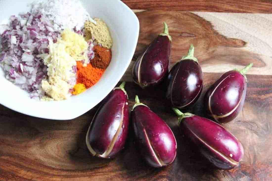 stuffed baby eggplant ingredients