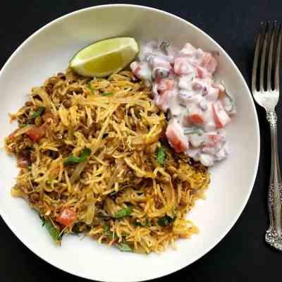 Sprouted Lentils Khichdi {Masoor Khichdi} – Instant Pot