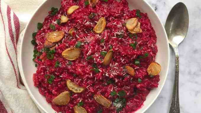 red wine & beetroot risotto