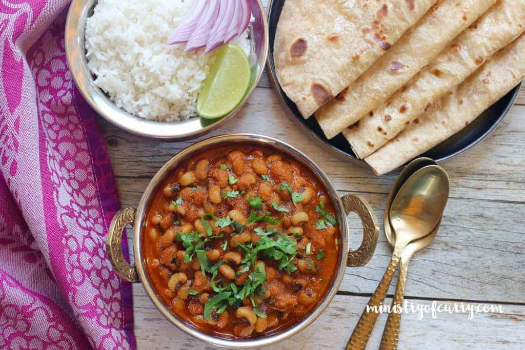 Black Eyed Peas Curry and Rice - Instant Pot