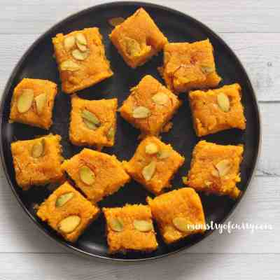 Coconut Mango Burfi {Fudge}