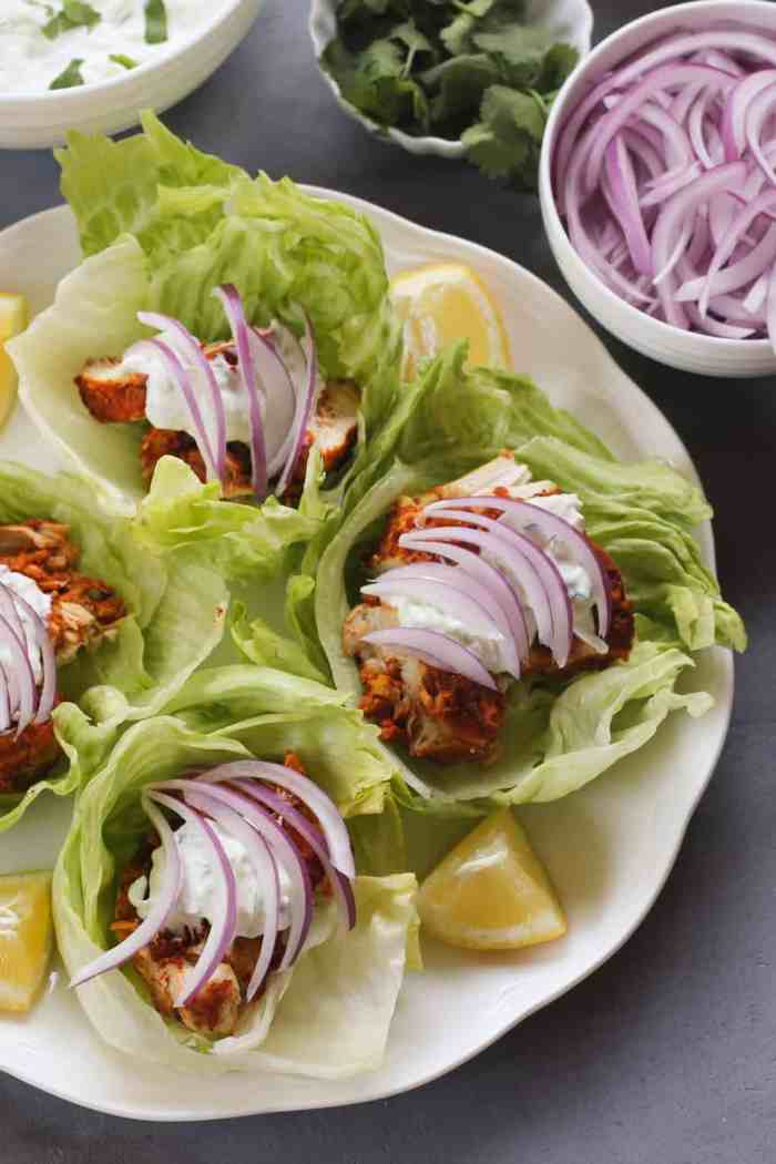 Tandoori Chicken Lettuce Wraps – Instant Pot