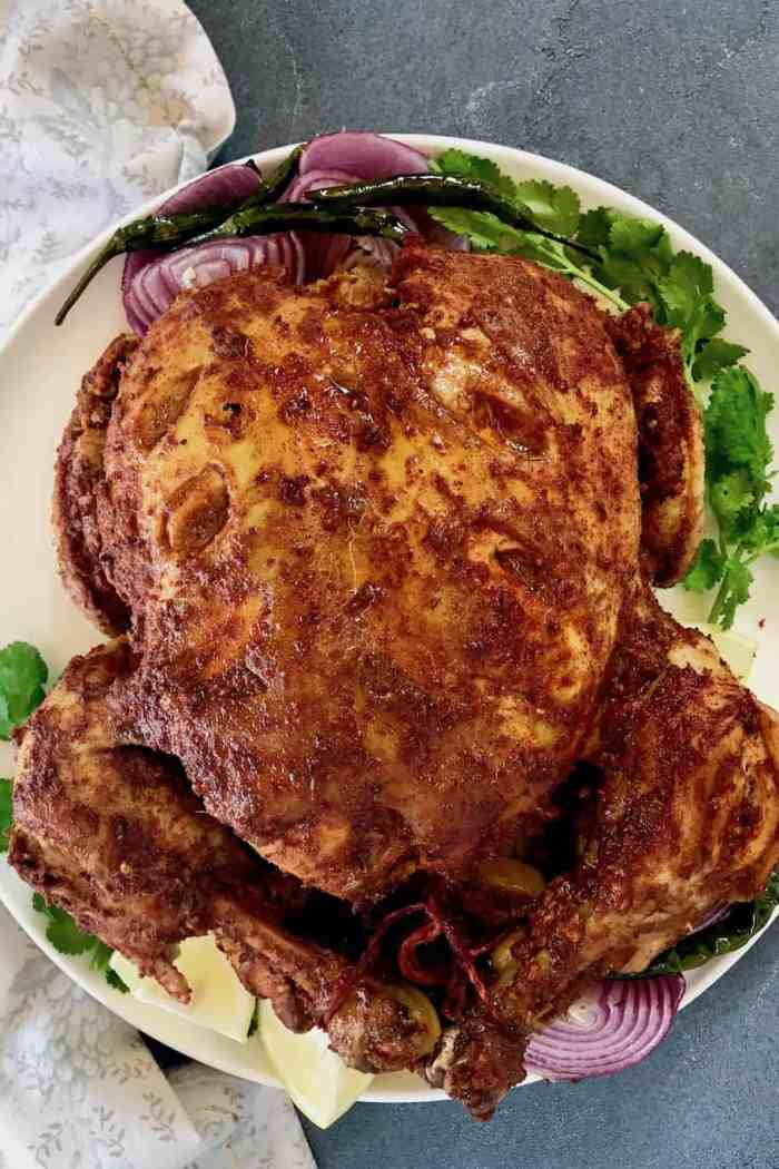 Instant Pot Whole Tandoori Chicken