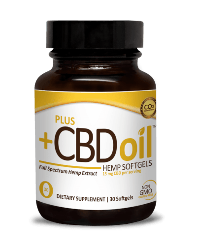 PlusCBD Oil Gold Formula Softgels (Ministry of Hemp Top CBD Capsules)