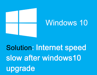 Internet is very slow after windows10 upgrade