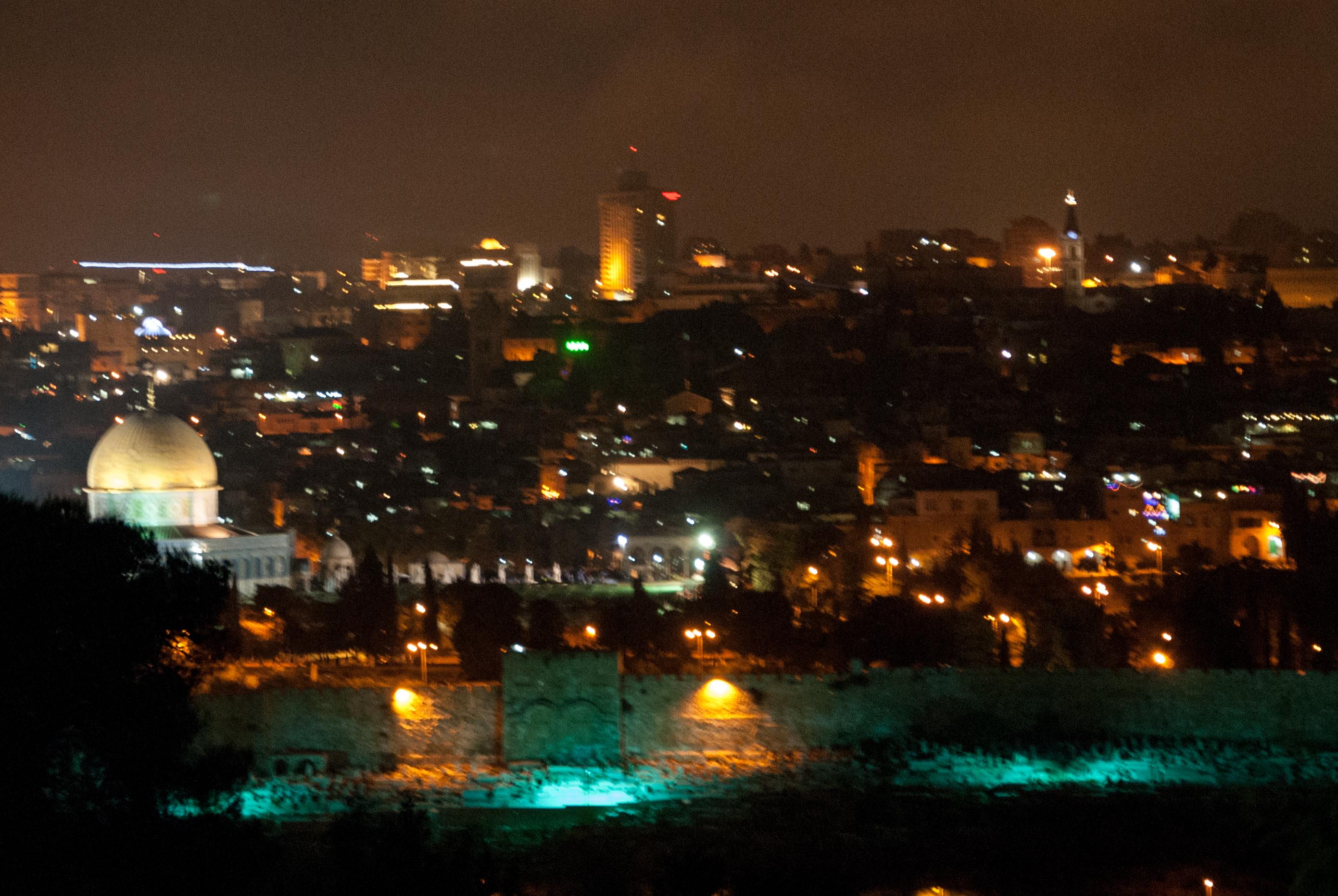 Ministry To Israel  Jerusalem At Night