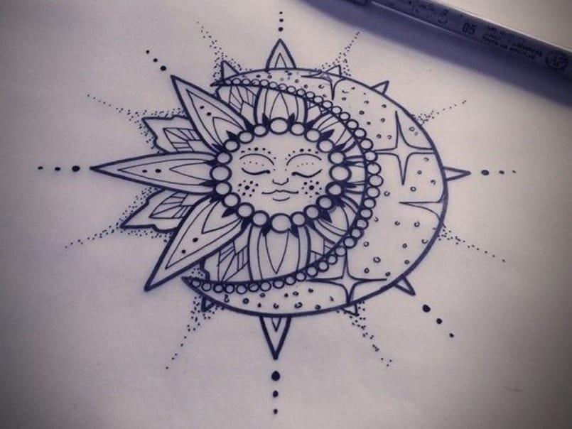 El Sol Y La Luna Tatuajes Muy Simbólicos Mini Tatuajes