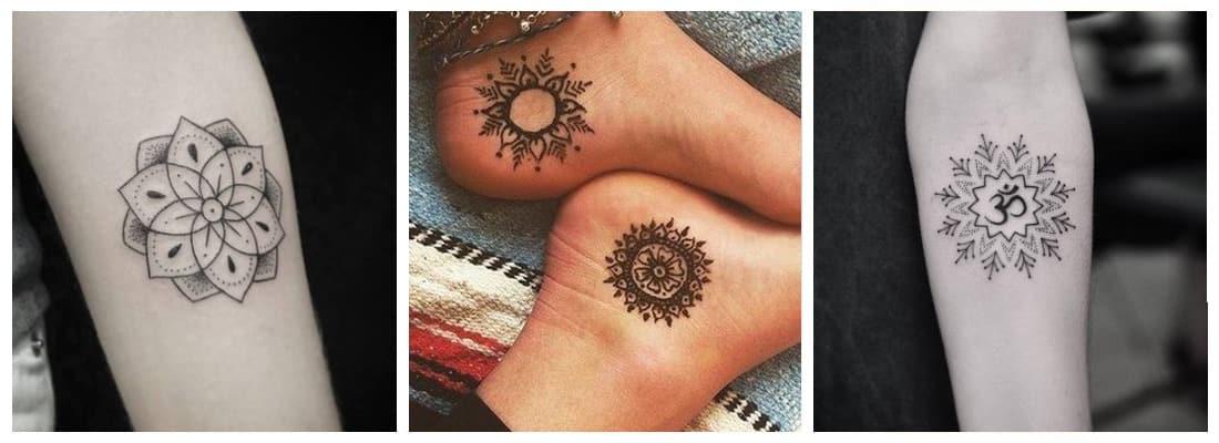 Tatuajes De Mandalas Para Hombres Y Mujeres Mini Tatuajes