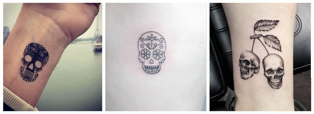 Tatuajes De Calaveras Originales Y Sorprendentes Mini Tatuajes