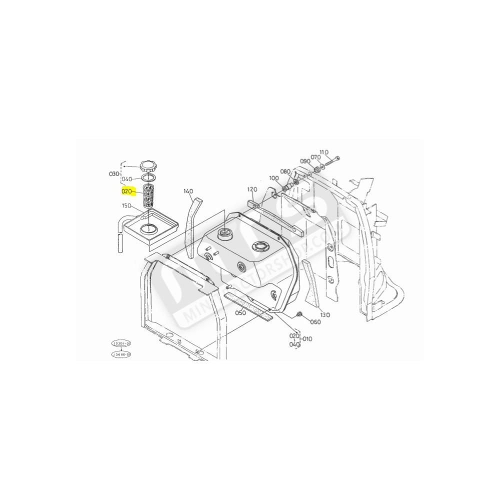 fuel filter tank net original Kubota