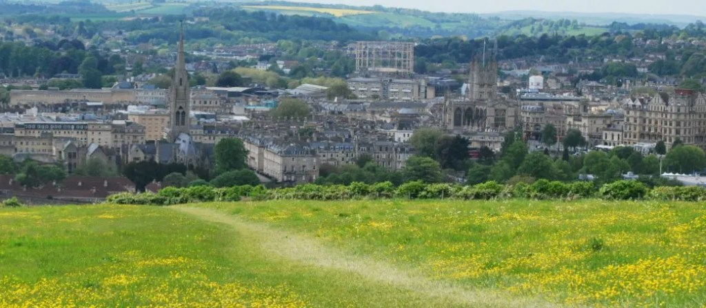 Skyline of Bath, credit to National Trust. Part of my guide on amazing National Trust days out with kids