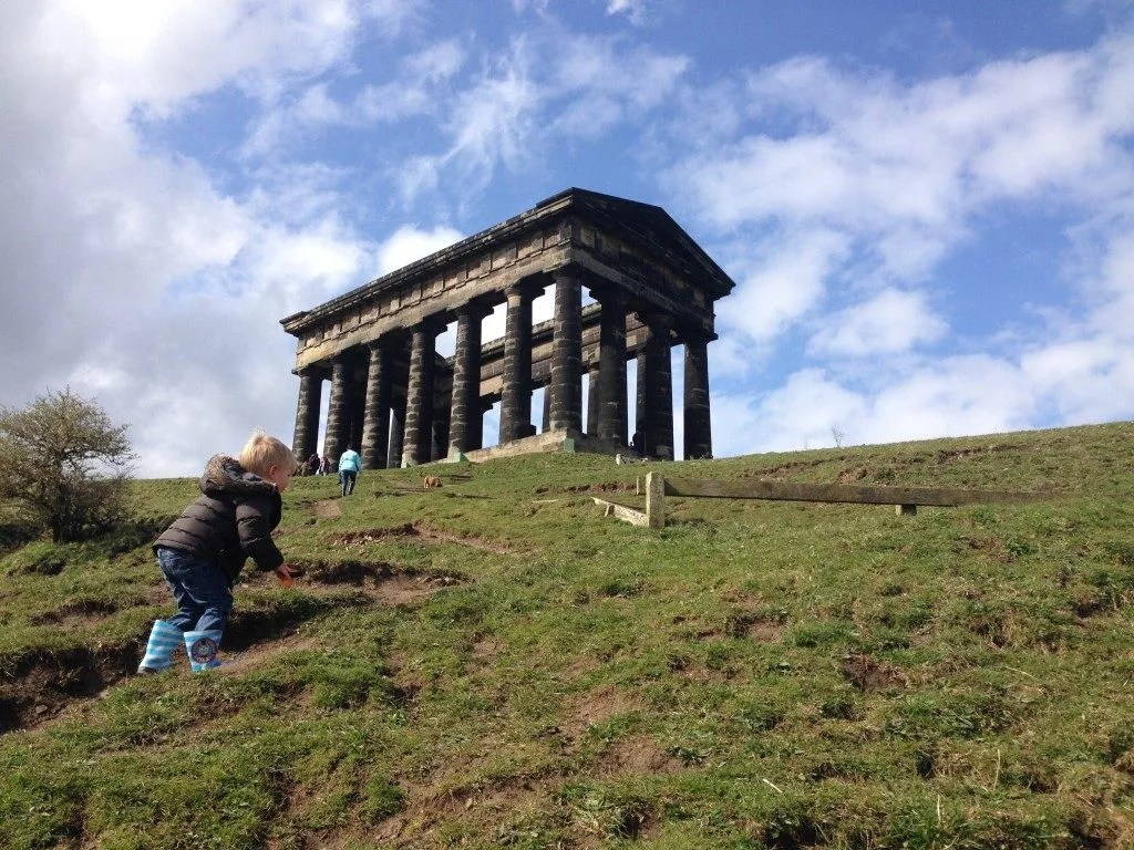 up the hill to penshaw monument 100 Amazing National Trust Days Out with Children www.minitravellers.co.uk