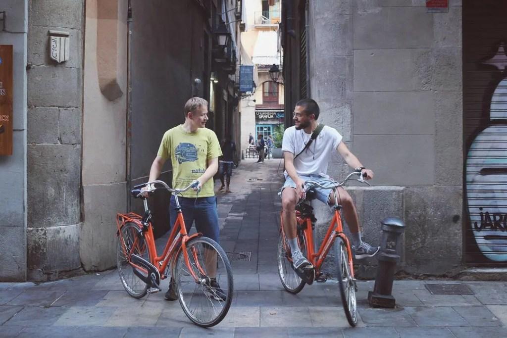 Biking in Barcelona with Children www.minitravellers.co.uk