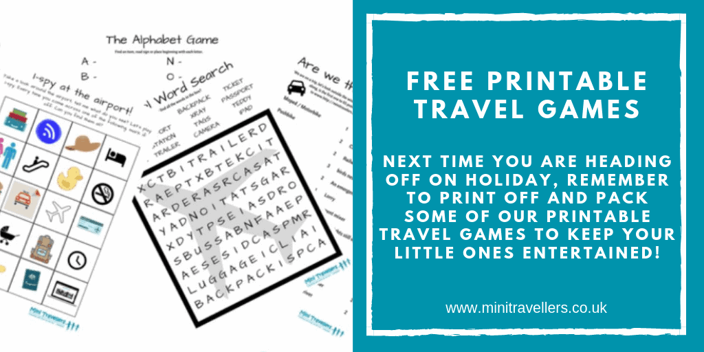 FREE Printable Travel Games Next time you are heading off on holiday, remember to print off and pack some of our FREE Printable Travel Games to keep your little ones entertained!