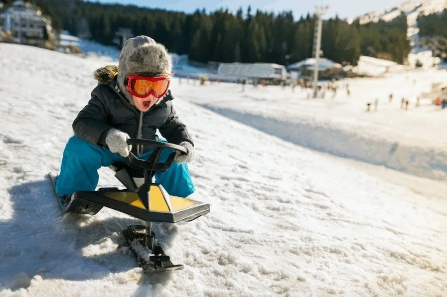 Enjoy these Winter activity ideas, including sledging