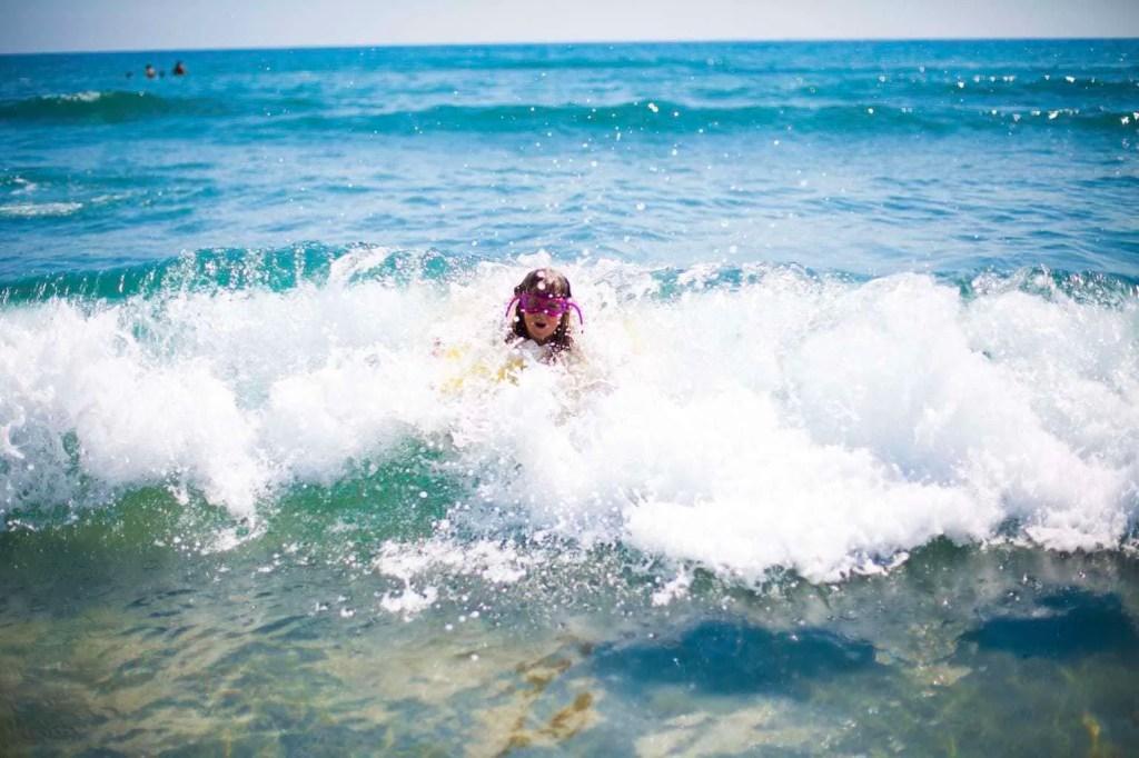 Enjoying the surf with the DC Super Heroes Swimwear range