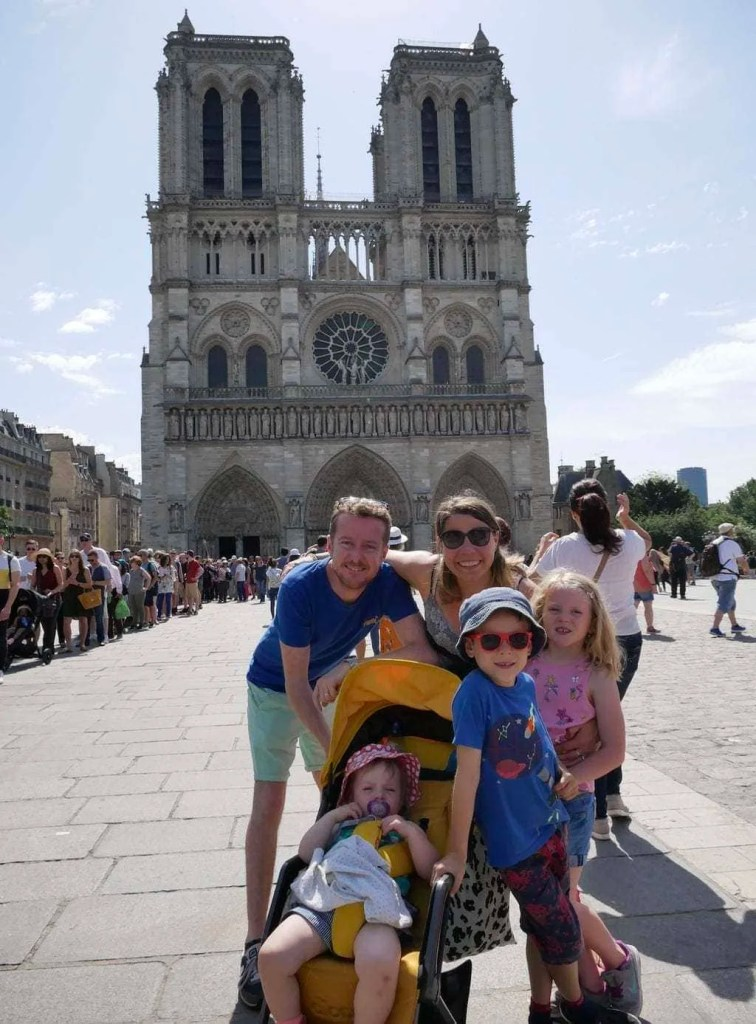 Using the Diono Traverze, a lightweight stroller, on a family trip to France