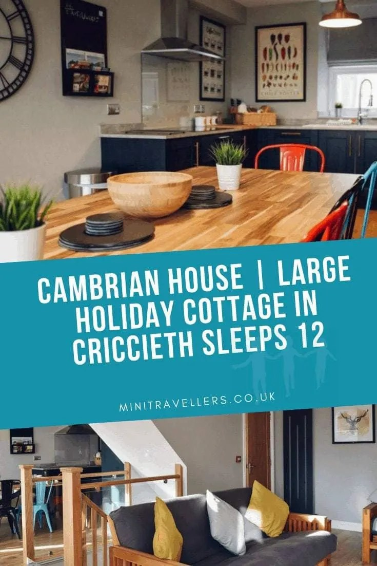 Cambrian House | Large Holiday Cottage in Criccieth Sleeps 12